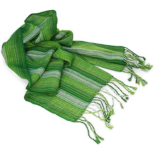 Echarpe de la laine d'alpaga, naturellement teints, pour les hommes et les femmes. Gamme de couleurs disponibles. Vert - Vert