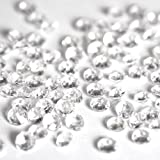 1000 4.5mm Clear Table Diamonds - 1/3 carat Acrylic Scatter Crystals - supplied with their own White Organza Bag