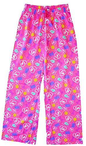 Girls-Little-Mix-Heart-Bows-Lounge-Pants-Cotton-Pyjama-Bottoms-sizes-from-7-to-13-Years