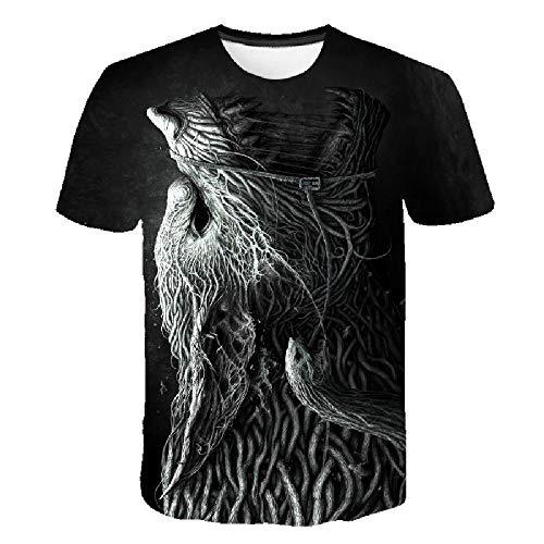 Casual Fashion 3D-T-Shirt, Herren- und Damen-T-Shirt, Cooles und bequemes Sommer-Kurzarmshirt, Horror und Art 3XL - Lee T-shirt Hat
