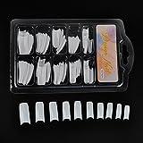 iDealhere 100x Calcomanias Consejos Falso Gel UV Uñas Acrílico Arte (Blanco)