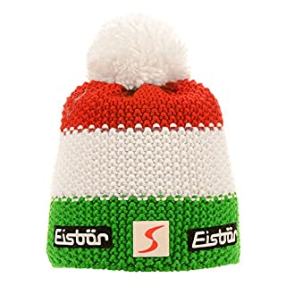 Eisbär Star Pompom Sp Hat Multi-Coloured Electric/White/Ardea Size:One Size