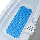 SlipX Solutions Il Tappetino da Bagno Extra Lungo aggiunge trazione Antiscivolo a vasche e docce 30/% in pi/ù Rispetto ai tappetini Standard! 200 Ventose, 100 cm di Lunghezza - Grigio