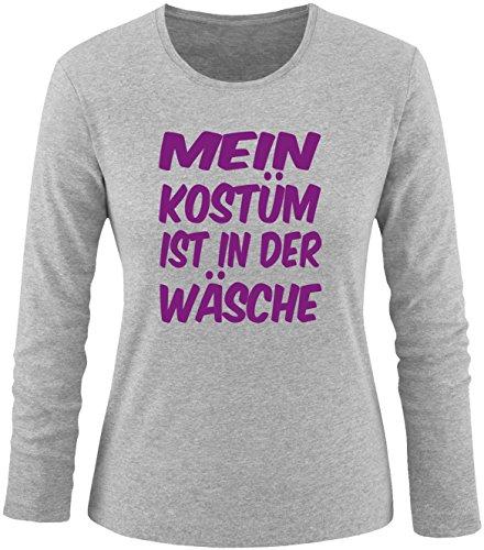 Luckja Mein Kostüm ist in der Wäsche Damen Longsleeve Grau/Violett