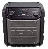 ION Audio Game Day | 50W Rechargeable Outdoor Powered Speaker with Wireless Bluetooth Streaming, USB Charge Port, Aux Input and Microphone