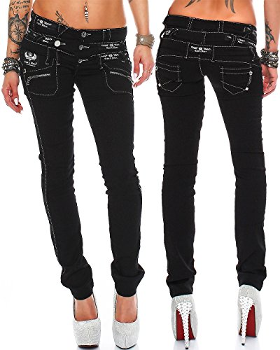 75ebb33d362 Cipo Baxx Sexy Damen Jeans Stretch Röhre Hose Slim Stright Fit Skinny  Hüftjeans Casual verschiedene Varianten