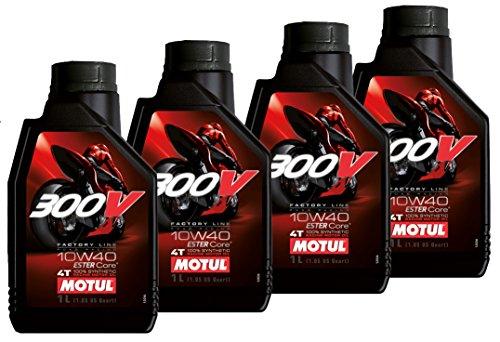 Offerta 4 Litri Olio Motore 300v 10w40 4T Factory Line Racing 100% Sintetico