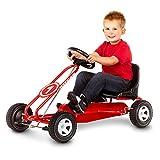 Kettler Kettcar Spa - DAS ORIGINAL - Farbe: Rot und schwarz - Go Karts für Kinder - hochwertiges Tretauto - Artikelnummer: T01015-0000 -