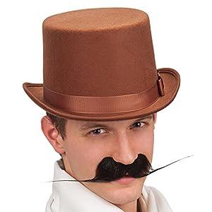 Carnaval 06124 - Cilindro de Lujo Sombrero, fieltro de lana, Brown, altura 13 cm, tamaño 59