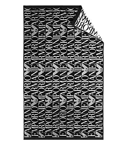 Emporio Armani Beach Badetuch Towel 170 x 100 (17520 Printed Black)