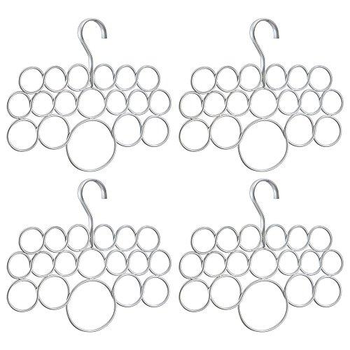 InterDesign Axis 18Schalhalter in Kreisdesign 4er-Set Set of 4 versilbert Perle