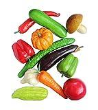 Set von 12 Realistische Künstliche Gemüse spielen Lebensmittel-Set