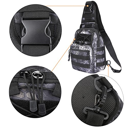 S-ZONE leggero Tactical Assault Piccolo una cinghia Sling MOLLE Backpack Jungle Camo