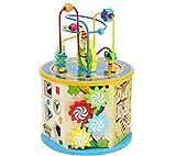 ISO TRADE Cubo attività Bead Maze Giochi Centri 8-in-1 Multifunzione Montagne Russe Educativi Prima Scatola di apprendimento Infanzia Giocattoli per Bambini Regalo di Natale Regali di Compleanno 7711