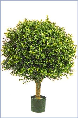 Licht & Grün exclusive Kunstpflanzen Künstliche Buchskugel für den geschützten Außenbereich max.40cm Durchmesser Spitzen-Qualität