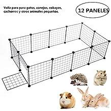 Parque de Mascotas, 12/24/ 36 Los Paneles Metal Cable Parque Infantil Ajustable