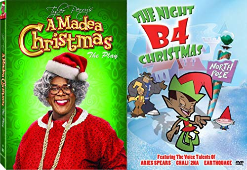 Laugh and Cry and Laugh Some More with Tyler Perry's A Madea Christmas The Play & The Night B4 Christmas Animated Big Happy Family 2-Comedy DVD Bundle