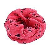 LuckyGirls Baumwollschal Kinder junge Mädchen Schal Lächelnd Sternen Halswärmer Halstuch (Rose Rot)