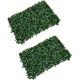 Gazechimp 2pcs Gazon Artificiel Pelouse Synthetique Tapis Plante Décoration Maison Chambre Balcon - #2