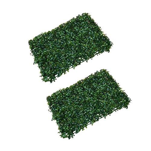 Gazechimp 2x Alfombra Artificiales Césped de Hierbas Naturaleza Orgánico para Sala de Estar Balcón Jardín de Infantes DIY