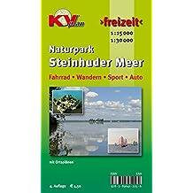 Steinhuder Meer: 1:30.000 Freizeitkarte zum ganzen Naturpark mit Ortsplänen in 1:15.000 inkl. Rad- und Wanderwegen (KVplan Mittelweser-Region / http://www.kv-plan.de/Mittelweser.html)