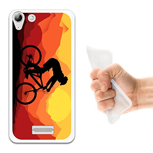 WoowCase Wiko Selfy 4G Hülle, Handyhülle Silikon für [ Wiko Selfy 4G ] Radfahren Fahrrad Berg Handytasche Handy Cover Case Schutzhülle Flexible TPU - Transparent