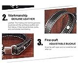 Jiayiqi Männer Synthese Leder Armband Verstellbare Schnalle Handgelenk Band Legierung Wrap Handgelenk - 5