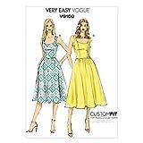 Vogue Patterns V9100 Misses' Dress, Size A5 (6-8-10-12-14)