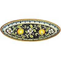 CERAMICHE D'ARTE PARRINI - Italian ceramics artistic, tray decorated lemons , hand painted made in ITALY Tuscan