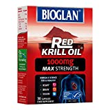 Bioglan Red Krill Oil Double Strength 1000mg, high in Omega-3 Fish Oil, EPA & DHA help to support your Heart, Eye and Brain health, one month supply – 30 capsules