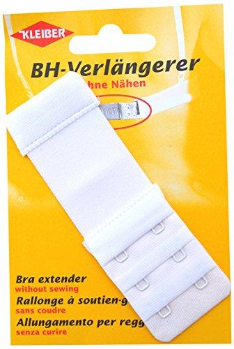 Kleiber 35 mm Rallonge Soutien-Gorge Double Crochet, Blanc