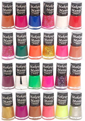 Makeup Mania Exclusive Nail Polish Set of 24 Pcs (Multicolor Set # 77, 83)
