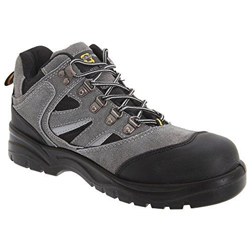 Grafters - Chaussures montantes de sécurité - Homme Gris foncé/Noir