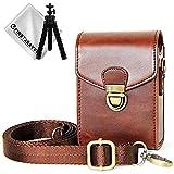 Marrone scuro fotocamera Custodia PU Pelle Borsa Vieni con laccio da collo e del polso/cinturino Per Panasonic Lumix DMC TZ200/TZ100/TZ110/TZ91/TZ90/TZ81/TZ80/ ZT70/ZT71/TZ60/TZ61 BDX21-TZ200-10