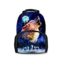 Coloranimal Stylish 3D Zoo Animals Pattern Backpacks for Children School Book Bags