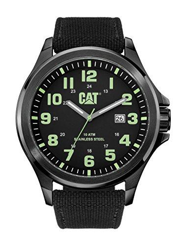 CAT operatore-Orologio da uomo al quarzo con Display analogico e cinturino in Nylon, PU.161,65.113, colore: nero