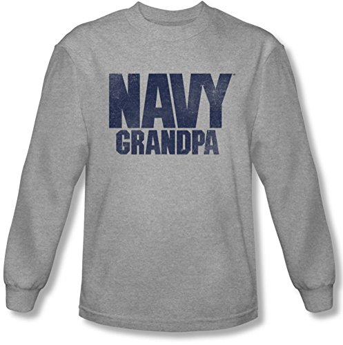 Navy - Herren-Opa Longsleeve T-Shirt Athletic Heather