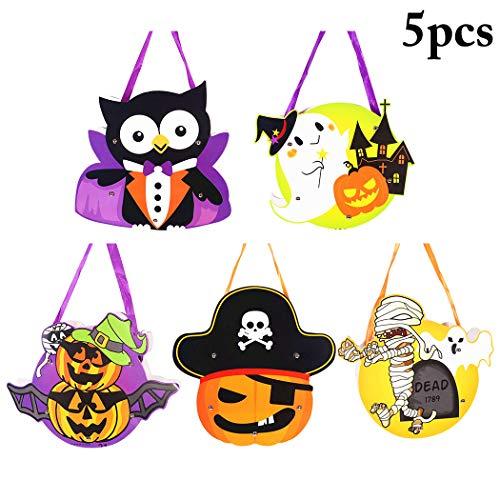 JUSTDOLIFE 5 Stücke Halloween Süßigkeits Tasche Süß Karikatur Essen Tasche Tasche