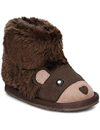 Emu Bear Walker Botas Niño Oso Pelo Piel Lana Chocolate b11197