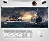 Mauspad Hot Game World Of Warship Seeschlacht Große Mousepad Anti-Rutsch-Rechteck Mäuse Matte 30 * 90