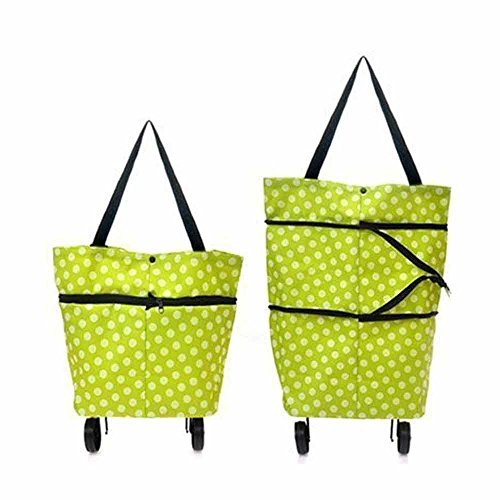 Rich N Royal Folding Trolley Bag Large Shopping Tote Bag Hand Bag with Wheels