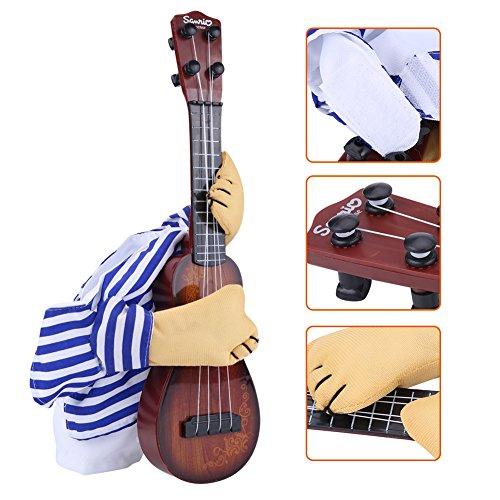 Pudding Kostüm Zu - Hundekostüm für Weihnachten, lustiges Cosplay-Kostüm, Halloween, Party, Anzug, Gitarre, Spielerkleidung