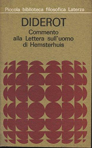Commento alla Lettera sull'uomo di Hemsterhuis