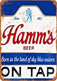 KODY HYDE Metall Poster - Hamm's Beer on Tap - Vintage
