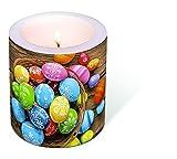 1 Kerze Gefärbte Eier Ostern Ostereier Osternest