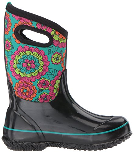Bogs Unisex-Kids Classic Pansies Snow Boot Black/Multi