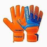 Reusch Prisma Prime G3 - Guanti da Portiere da Uomo, Uomo, 3870935, Shocking Orange/Blue, 9.5