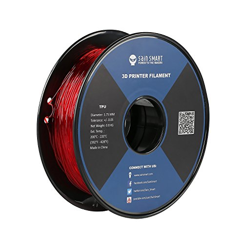 SainSmart TPU 3D-Drucker Filament, 1,75 mm, 0,8 kg, Rot 1.5 Component Video