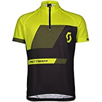 Scott RC Team Junior Kinder Fahrrad Trikot kurz schwarz/gelb 2018