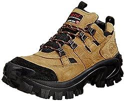 Woodland Mens Camel Leather Boots - 7 UK/India (41 EU)